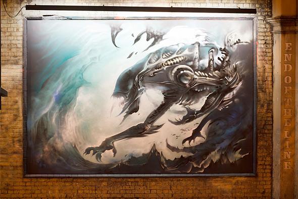 Alien Mural East London