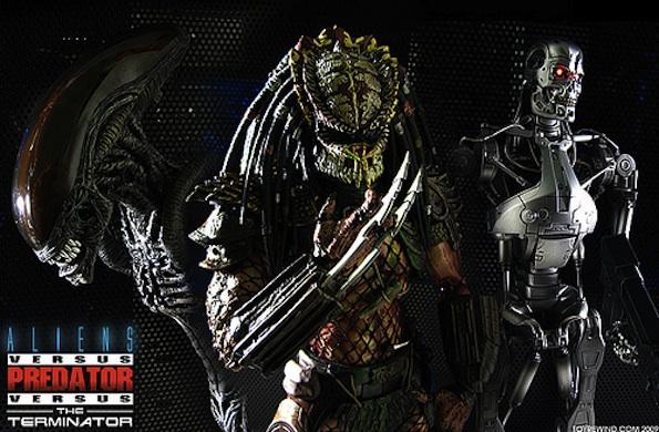 los únicos que han sido asesinados por un Alien, un Predator y un terminator