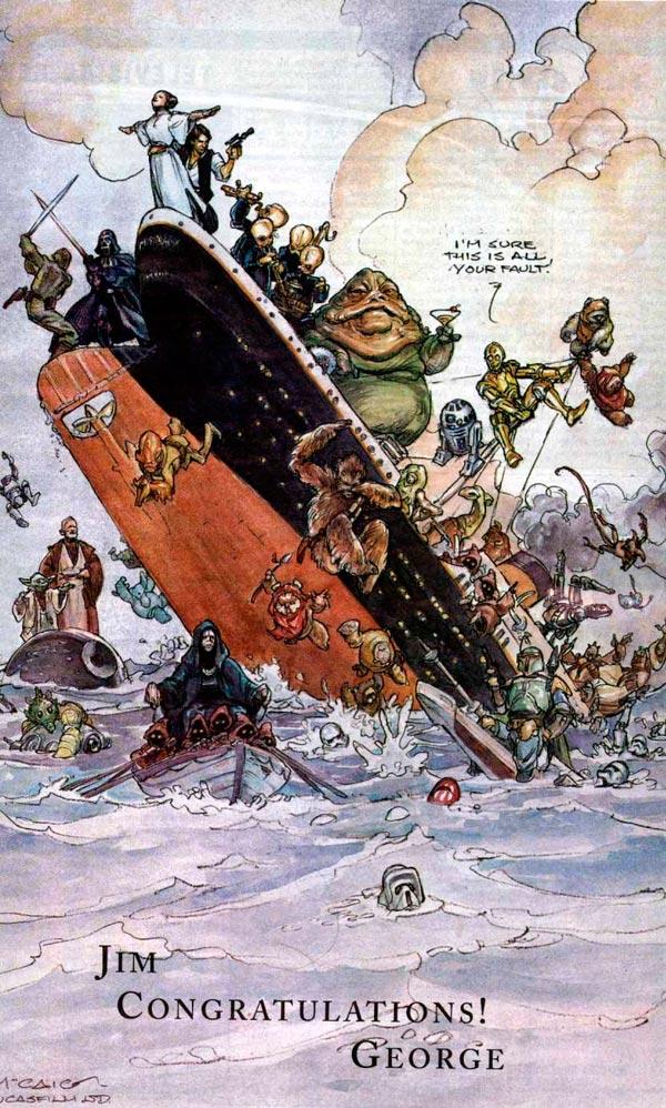 Así felicitó George Lucas a James Cameron cuando Titanic superó la recaudación de La Guerra de las Galaxias