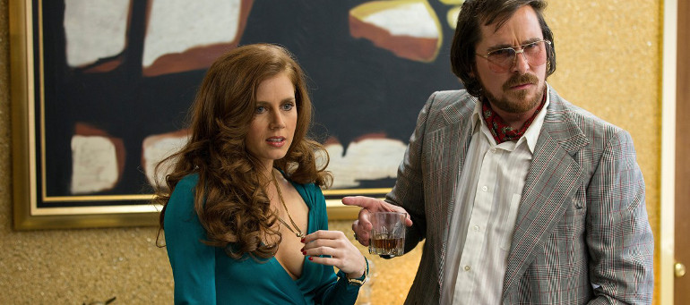 American Hustle Christian Bale y Amy Adams