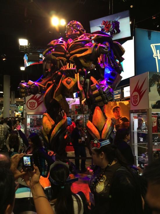 Life-size Transformers Bumblebee replica at Hasbro