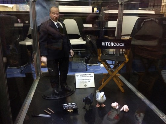 Alfred Hitchcock 1/6 Scale Figure Prototype on display at Mondo