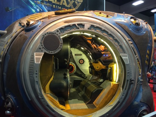 Guardians of the Galaxy mining pod prop on display at Marvel