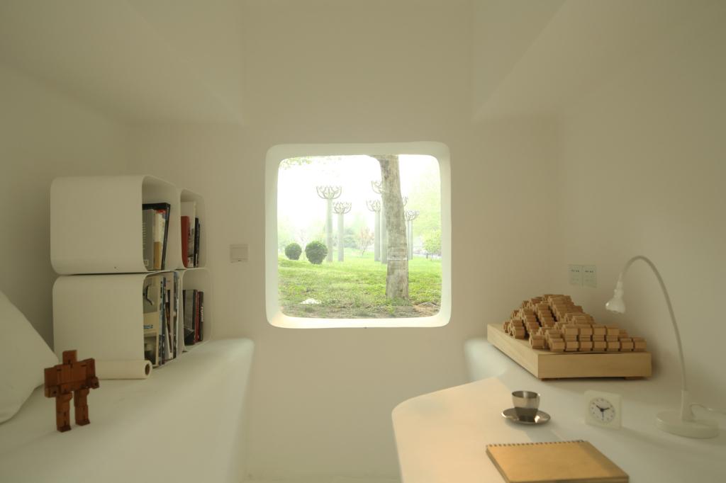 Interior de la casa inspirada en Space Invaders