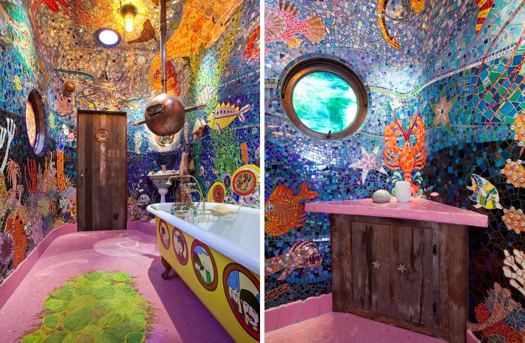 Lavabo inspirado en el submarino amarillo de Los Beatles