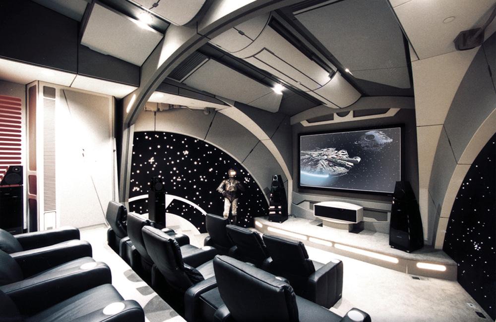 Sala de cine casera Stars wars