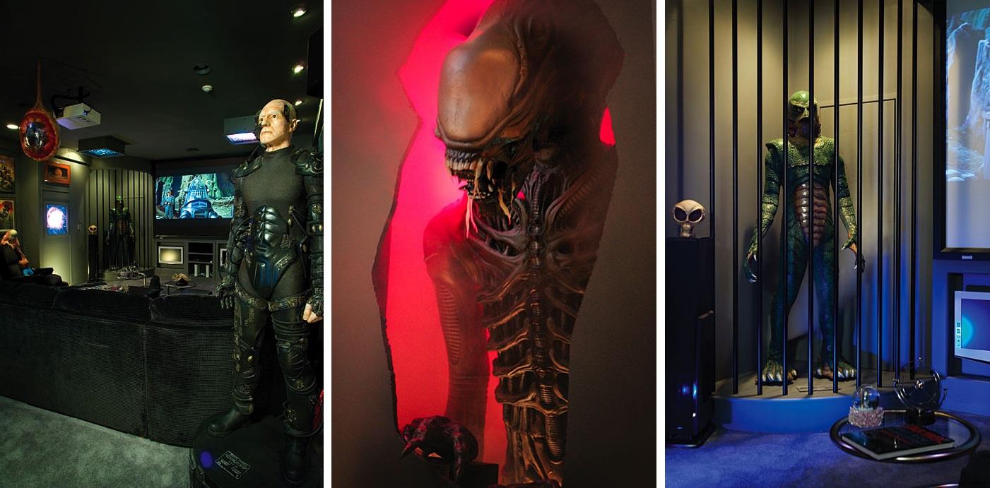 Detalles home cinema aliens