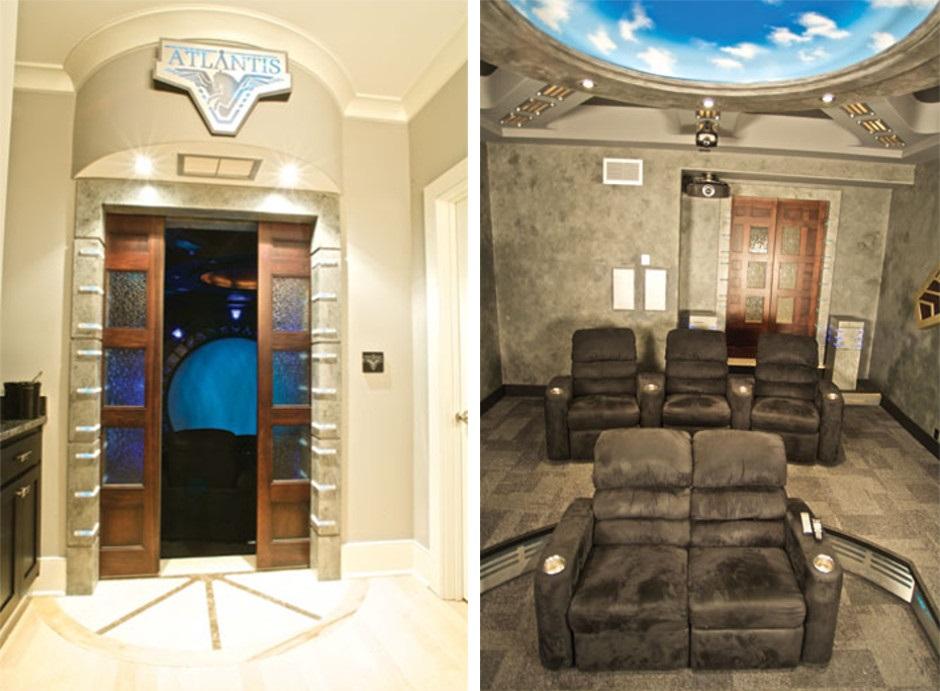 Sala de cine que recrea la nave de Stargate