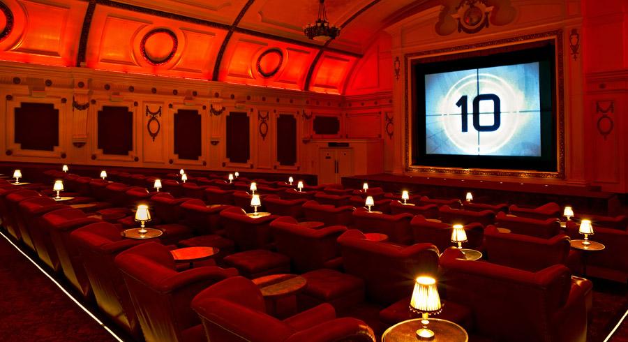 Sala de cine de lujo Londres