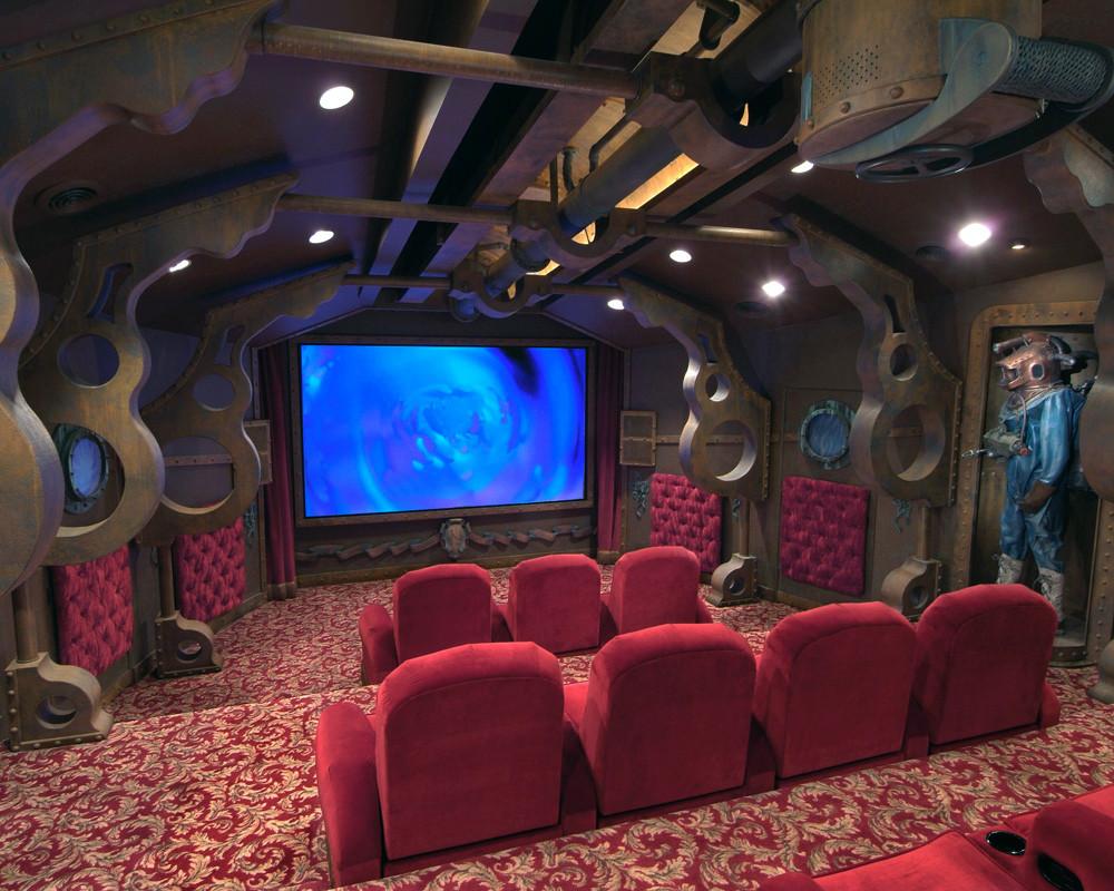 Sala de cine submarino 20.000 leguas de viaje submarino