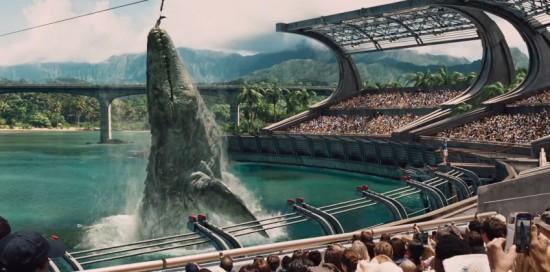 Jurassic World water dinosaur possibly a Mosasaurus