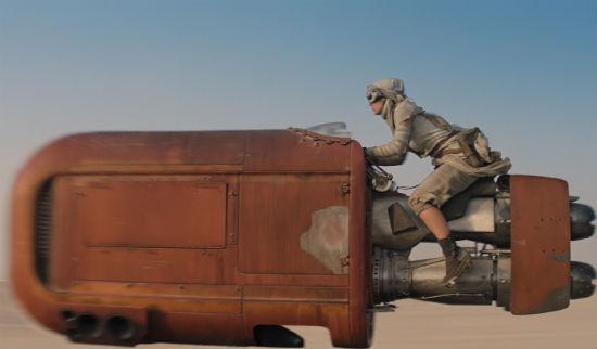 Daisy Ridley Speeder Star Wars Despertar de la Fuerza
