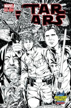 Star Wars 1 Mark Brooks Midtown Comics sketch
