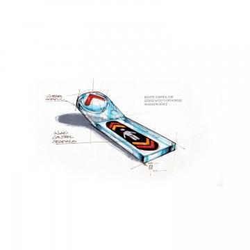 Back to the Future 2 Concept Art Remote