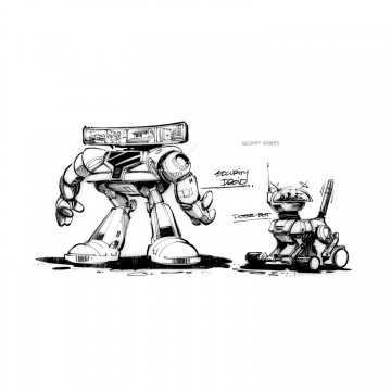 Back to the Future 2 Concept Art Security