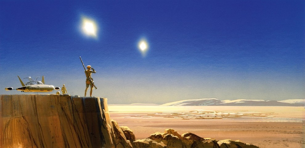 En 1975, George Lucas le encomendó a McQuarrie que ilustrara las escenas del guión para Star Wars.