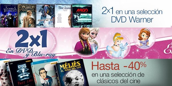 Ofertas Blu-ray DVD cine