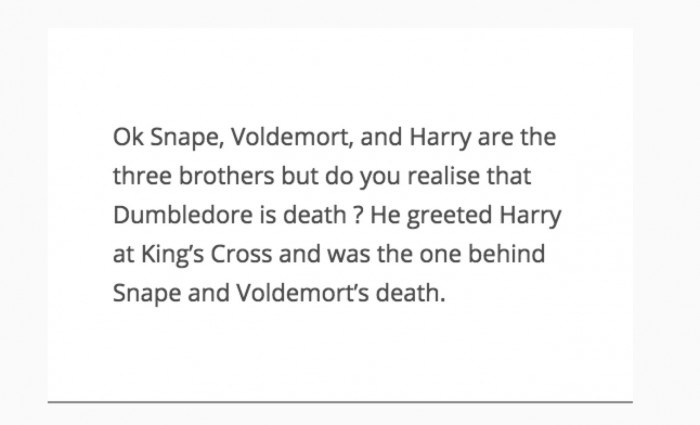 Albus Dumbledore es La Muerte del cuento en Harry Potter
