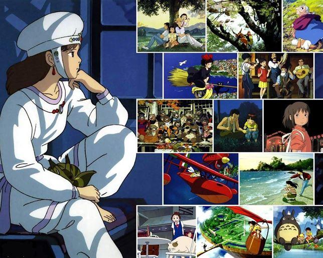 Imágenes de producciones de Studio Ghibli