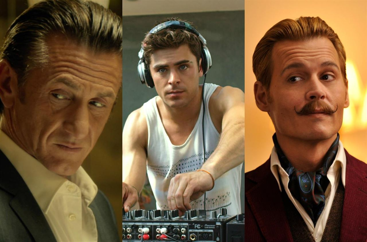 Sean Penn, Zac Efron, Johnny Depp