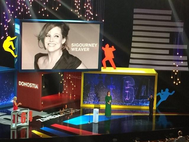 Sigourney Weaver recibe el Premio Donostia